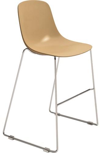 Pure Loop Binuance Kruk-SL - kruk met 2-kleurige kunststof zitschaal en een sledeframe