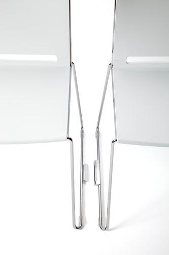 Qliq S650-05 - voordelige koppelbare zaalstoel, goed stapelbaar en koppelbaar, frame chroom