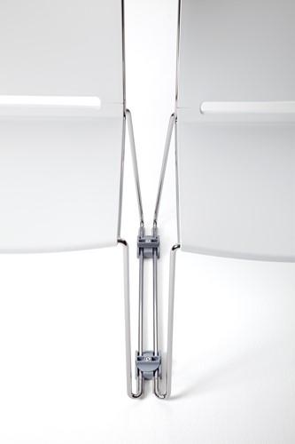 Qliq-AC631 - Koppeling voor 11 mm draadframe,  kunststof lichtgrijs, kort