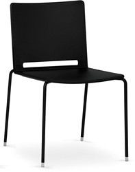 Qliq S640 - Stapelbare 4-poots stoel met kunststof zitting