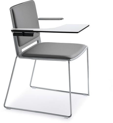 Qliq Tablet - HPL schrijftafel voor de Qliq armstoel - Zwart (NE) - Rechtshandig