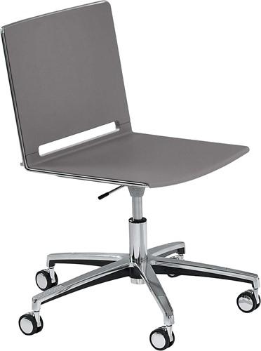 Qliq S659 - in hoogte verstelbare kunststof bureaustoel met wielen