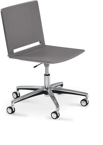 Wieltjes Bureaustoel Vervangen.Qliq S659 In Hoogte Verstelbare Kunststof Bureaustoel Met Wielen