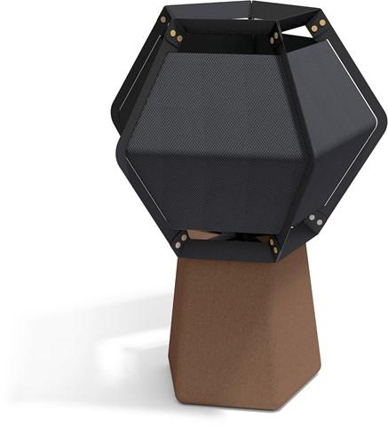 Quintus floor high - Quintus vloerlamp, voet kurk, frame zwart, kap textiel-2