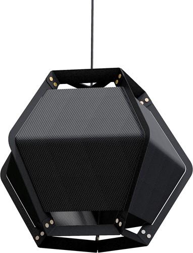 Quintus hanging - Quintus hanglamp, frame zwart, kap textiel-2