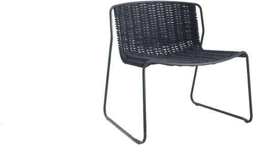 Randa 804 - luxe lounge stoel voor buiten, van staal en gevlochten touw
