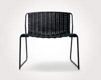 Randa 804 - luxe lounge stoel voor buiten, van staal en gevlochten touw-2