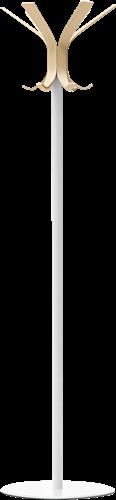 Ray 5166 - Kapstok voet en frame metaal, haken van essenhout