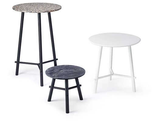 Record contract high - 3 poots hoge tafel - Ø 70 cm - ZWART (NE) - FENIX ZWART (NE) 30 MM