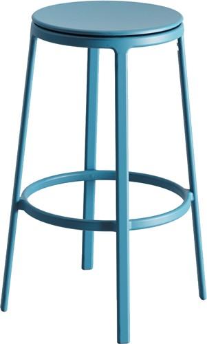 Round & Round - kruk met metalen frame en draaibare gerecyclede kunststof zitting