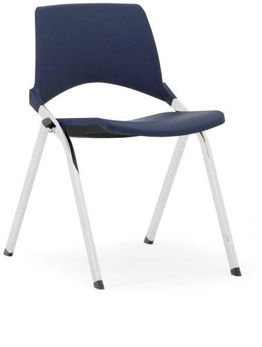S140 - makkelijk koppelbare 4-poots kunststof design stoel, verticaal stapelbaar-2