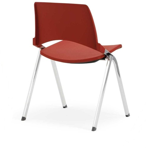 S140 - makkelijk koppelbare 4-poots kunststof design stoel, verticaal stapelbaar-3