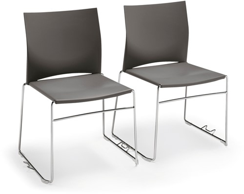 S450-05 - kunststof zaalstoel met rijkoppeling, perfect stapelbaar
