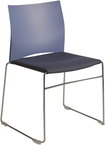 S450-30 - kunststof zaalstoel met gestoffeerde zitting, goed stapelbaar