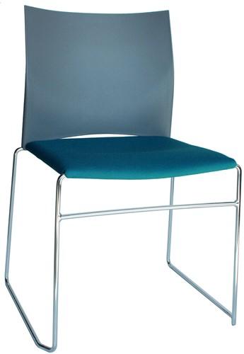 S450-30 - kunststof zaalstoel met gestoffeerde zitting, goed stapelbaar-3