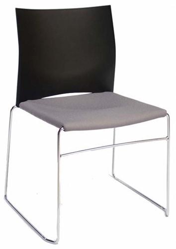 S450-30 - kunststof zaalstoel met gestoffeerde zitting, goed stapelbaar-2