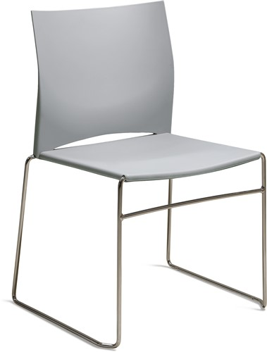 S450 - kunststof zaalstoel, perfect stapelbaar, frame chroom - LICHTGRIJS (GC 21)