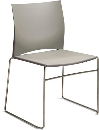 S450 - kunststof zaalstoel, perfect stapelbaar, frame chroom - ZAND (SA 514)