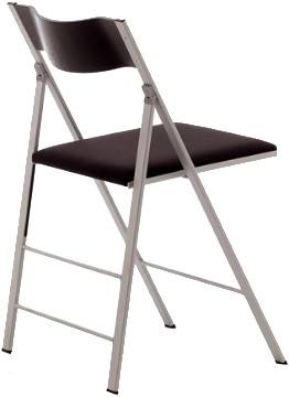 S75 stof - kunststof klapstoel met gestoffeerde zitting