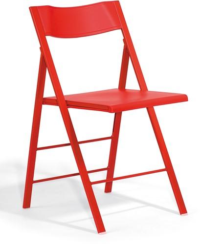 S77 - klapstoel, zitting en rug kunststof in de kleur van het frame-3