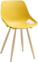 S810 - goedkope kunststof stoel met houten frame en aansprekende vormgeving