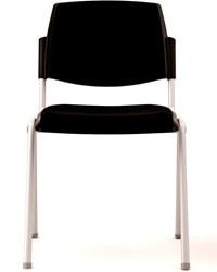 S870-30 - verticaal stapelbare kunststof stoel met gestoffeerde zittng voor laag budget