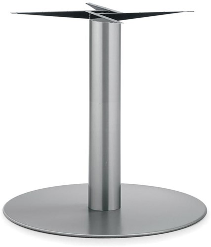 Tafelonderstel SC177 - Tafelonderstel kolompoot, RVS, hoogte 72 cm, voet diameter Ø80 cm
