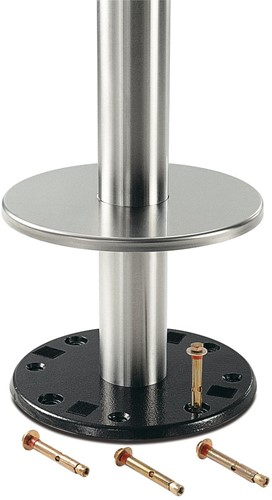 SC181-FIX - Tafelonderstel voor vloermontage, hoogte 73 cm, voet diameter Ø28 cm