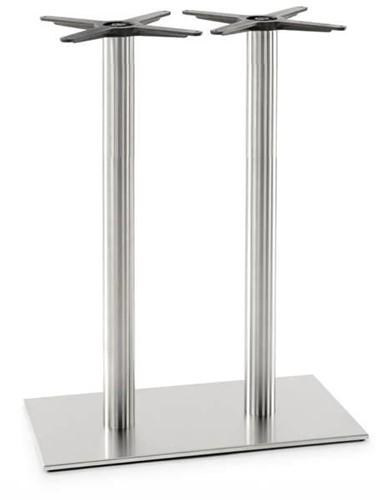 SC188 - Sta-tafelonderstel, vlakke voet, hoogte 110 cm, 2 kolommen, voet 75 x 40 cm