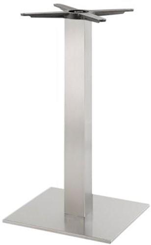 SC191 - Tafelonderstel, vierkante voet, vierkante kolom, hoogte 73 cm, voet 40 x 40 cm