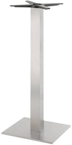 SC192 - Sta-tafelonderstel, vierkante voet, vierkante kolom, hoogte 110 cm, voet 40 x 40 cm