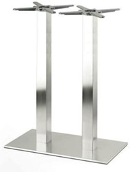 SC194 - Sta-tafelonderstel, dubbelkoloms, hoogte 110 cm, 2 kolommen, voet 75 x 40 cm