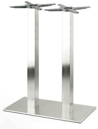 Tafelonderstel SC194 - Sta-tafelonderstel, dubbelkoloms, hoogte 110 cm, 2 kolommen, voet 75x40 cm