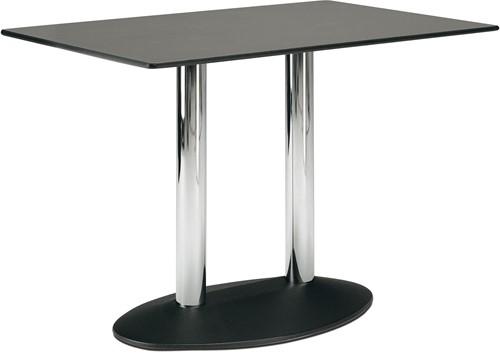 SC223 - Dubbelkoloms ovaal tafelonderstel, hoogte 73 cm