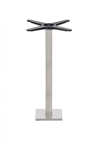 Tafelonderstel SC291-FIX - Tafelonderstel voor vloermontage, hoogte 73 cm, voet 20X20 cm - RVS mat (AC)