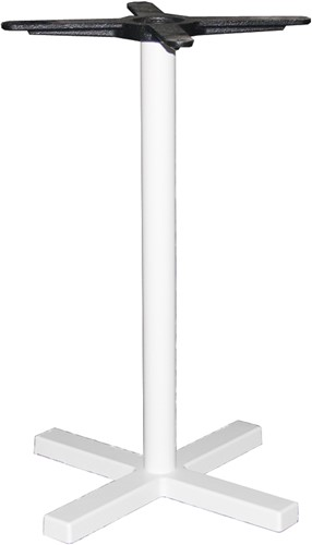 SC321 - Tafelonderstel kolompoot, kruisvoet, hoogte 73 cm, voet 48x48 cm