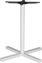 SC322 - Sta-tafelonderstel kolompoot, kruisvoet, hoogte 110 cm, voet 48x48 cm