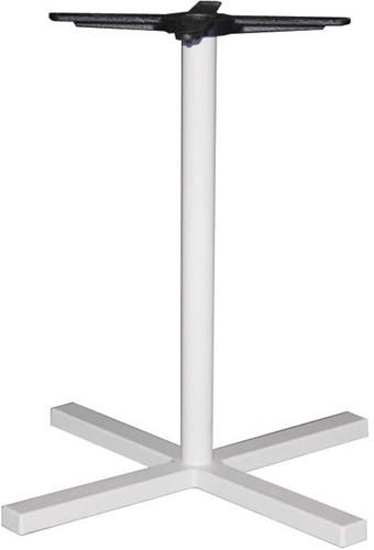 SC323 - Tafelonderstel kolompoot, kruisvoet, hoogte 73 cm, voet 70x70 cm