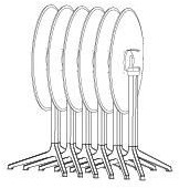 Tafelonderstel SC332 - Sta-tafelonderstel 3-teens, hoogte 110 cm, kantel- & nestbaar-3