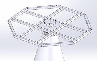 Tafelonderstel SC409 - Tafelonderstel Polyethyleen met bladframe, hoogte 71 cm, diameter voet Ø55 cm