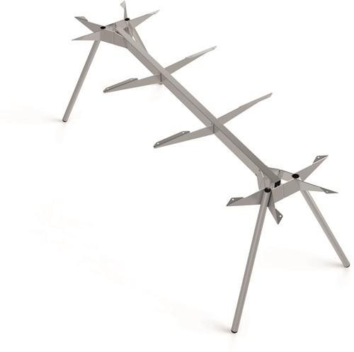 Tafelonderstel SC525 - Vierpoot tafelframe 240x110 cm Lonc collectie, hoogte 75 cm