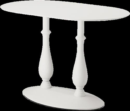 SC589 - Klassiek tafelonderstel met dubbele kolom en gietijzeren voet, h.73, voet ovaal 76x46cm