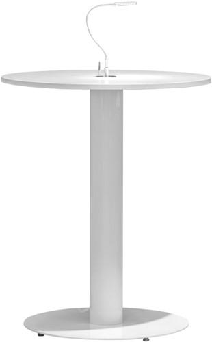 Tafelonderstel SC736 - Statafelonderstel met vlakke ronde voet en kabeldoorvoer, hoogte 107 cm