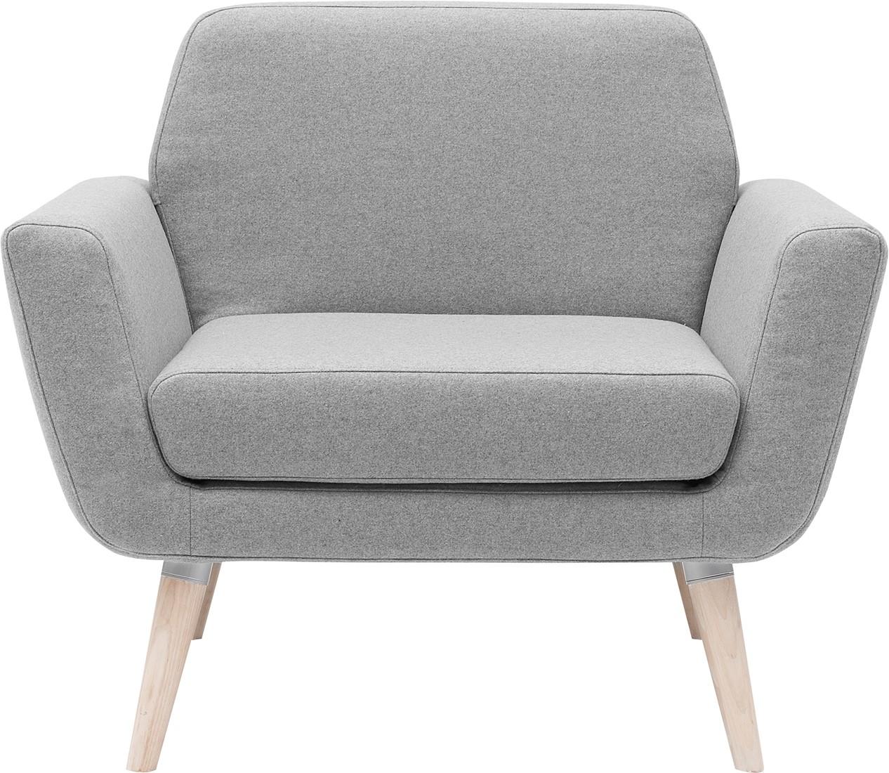 Scope fauteuil gestoffeerde lounge stoel met houten for Stoel houten poten