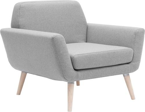 Scope Fauteuil - gestoffeerde lounge stoel met houten poten