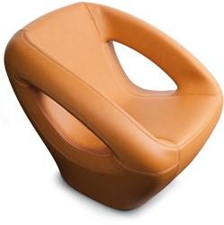 Lonc Seaser leather - luxe gestoffeerde lounge stoel