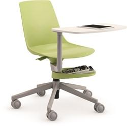 S110 SW-TL - Verrijdbare, multi inzetbare schoolstoel met kunststof zitschaal en schrijftafeltje