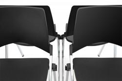 Koppeling AC141 - Kunststof koppeling voor stoel S140, kleur zwart