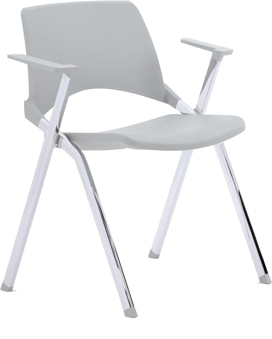 Witte Kunststof Design Stoelen.A140 4 Poots Kunststof Design Stoel Met Armleggers Verticaal