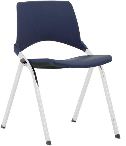 S140 - 4-poots kunststof design stoel, verticaal stapelbaar